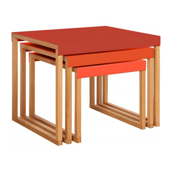 KILO/NESTED TABLE RED SS18 n°1
