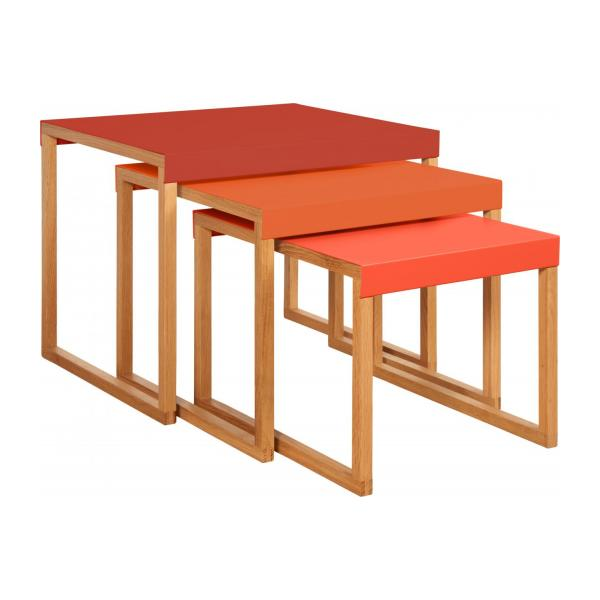 KILO/NESTED TABLE RED SS18 n°2