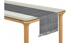 Lot de 2 travers de table en coton noir