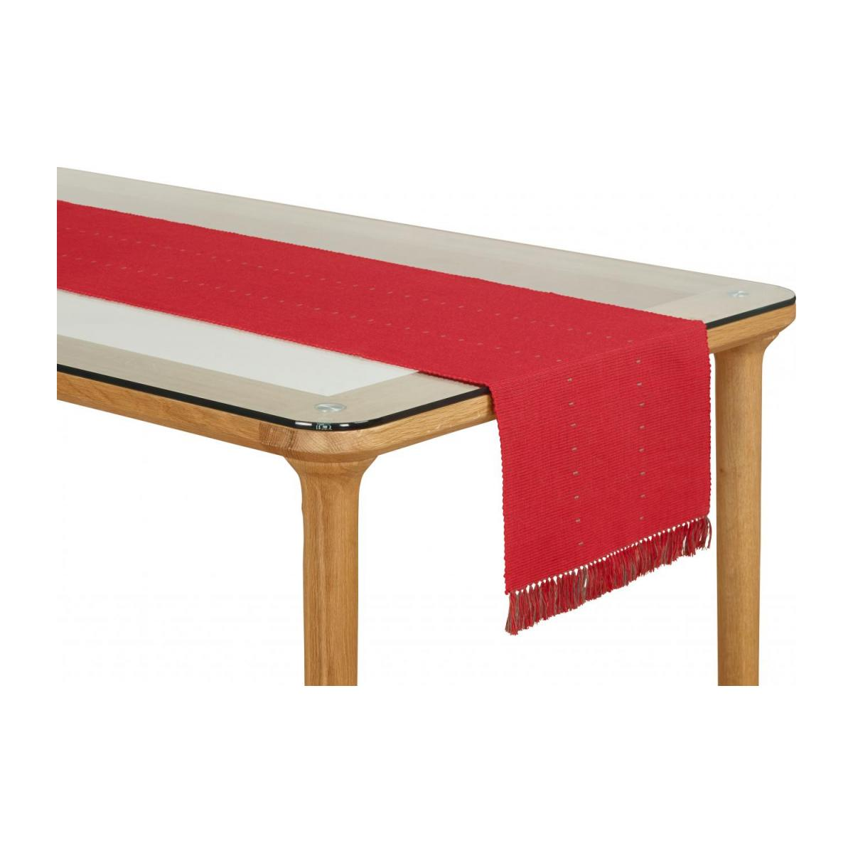 Lot de 2 travers de table en coton rouge n°1