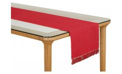 Lot de 2 travers de table en coton rouge