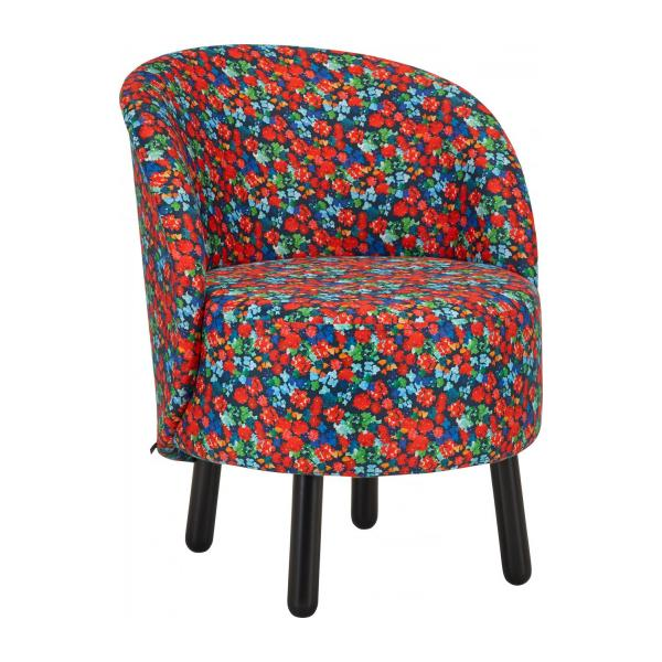 Sessel aus Samt - Muster Marjolaine - Design by Floriane Jacques n°1