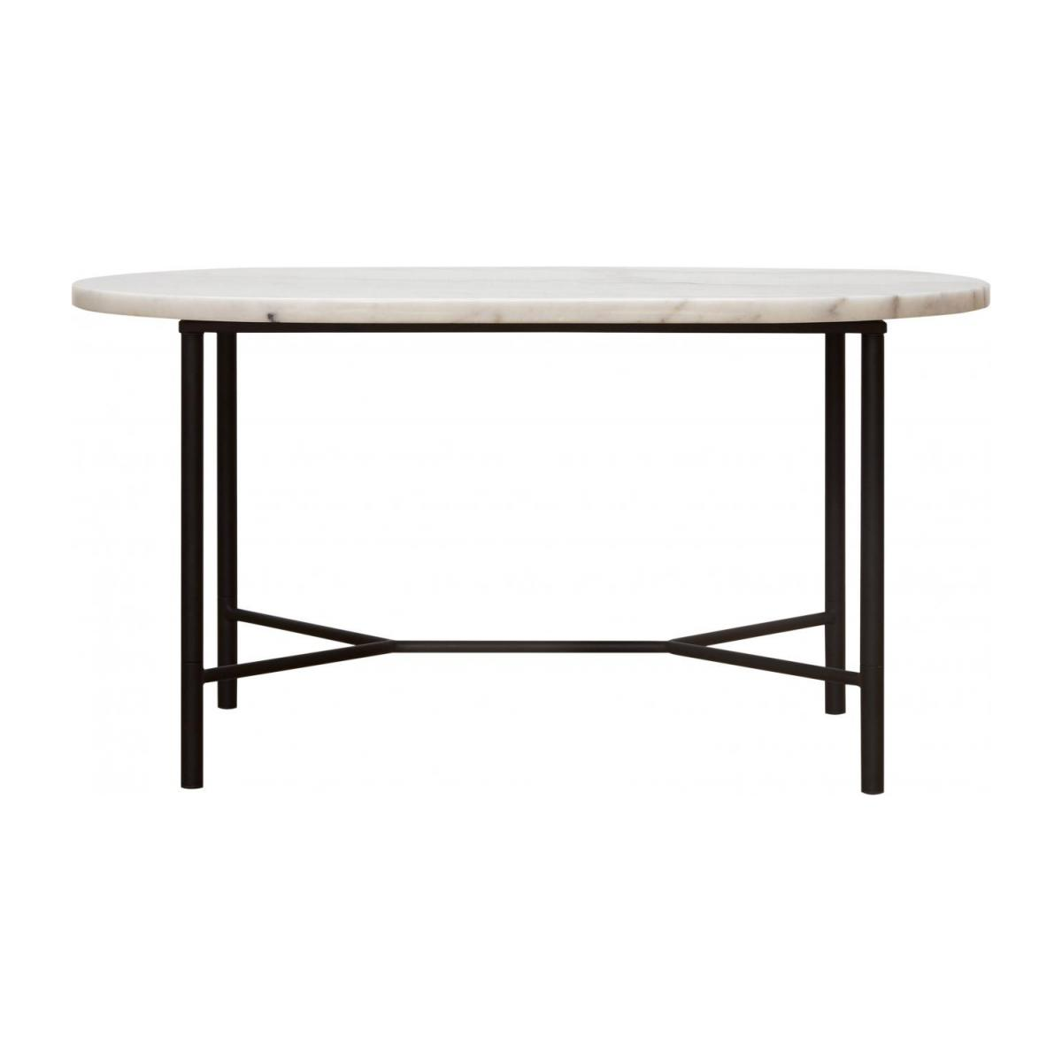 Goldie Table Basse Ovale Marbre Blanc Habitat
