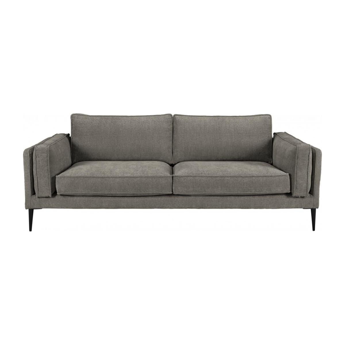 gil 3 sitzer sofa aus samt grau habitat. Black Bedroom Furniture Sets. Home Design Ideas
