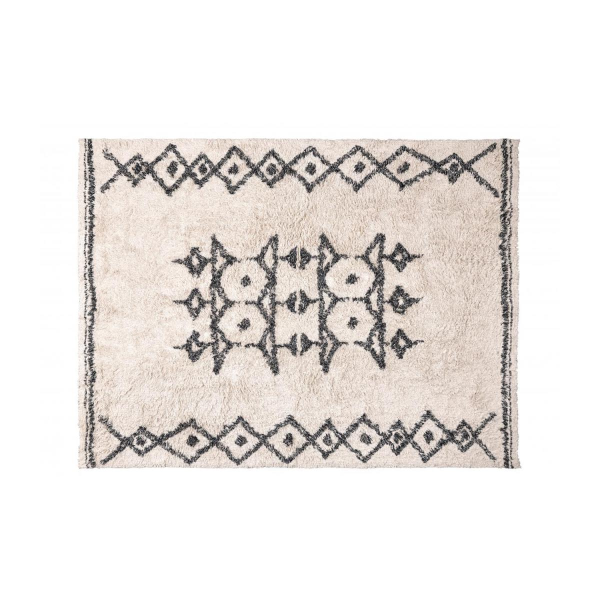 Berber Style Tufted Cotton Rug Black and White 170x240cm n°1