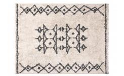 Berber Style Tufted Cotton Rug Black and White 170x240cm
