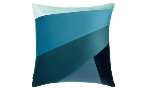 Coussin - Patchwork - Bleu - design by Floriane Jacques