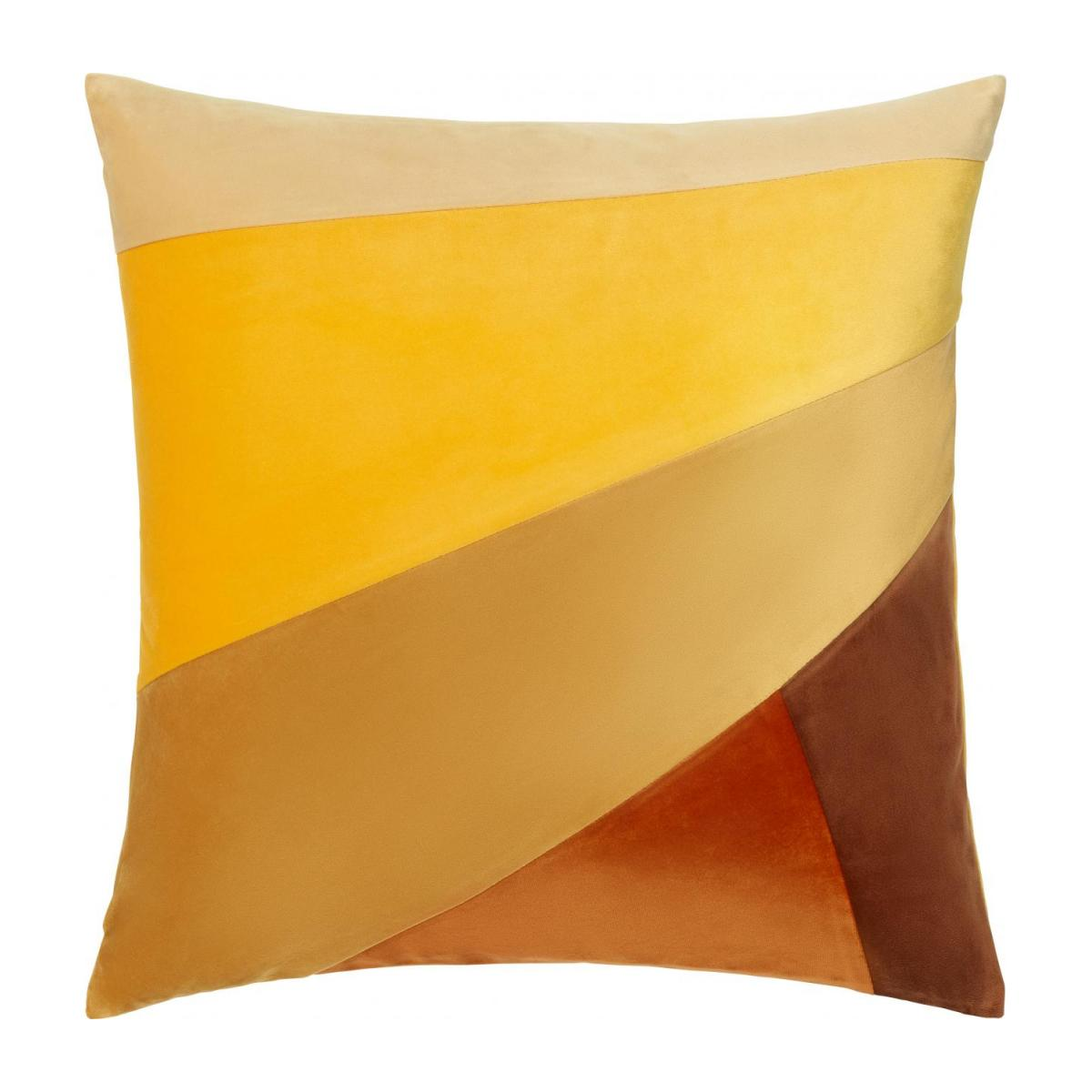 Coussin - Patchwork - Jaune - design by Floriane Jacques n°1