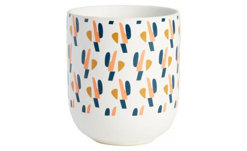 Tasse en Porcelaine - Motif orange - design by Floriane Jacques