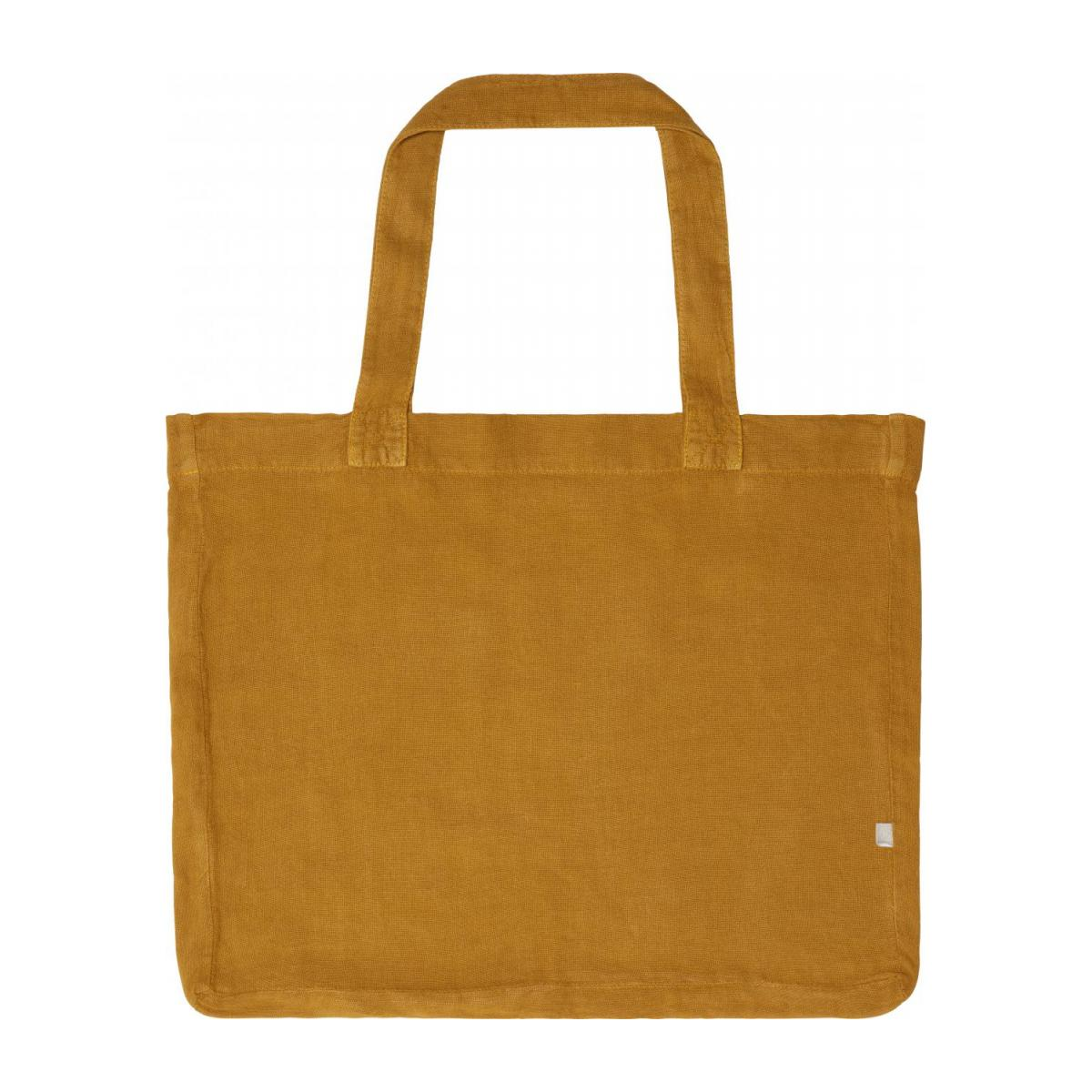 Shopping bag grande de lino mostaza