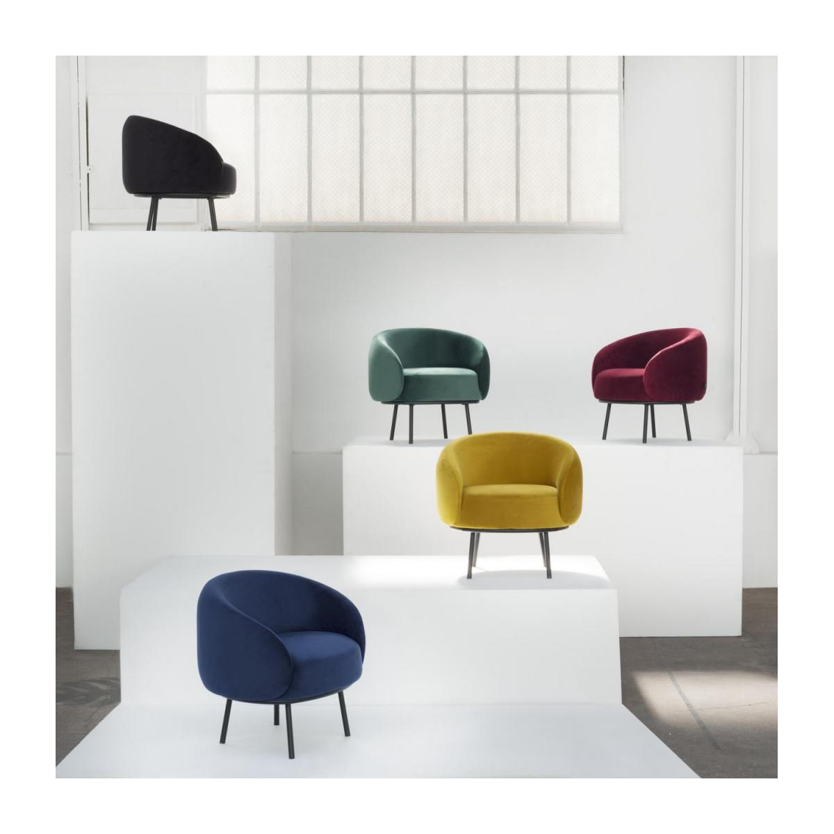 Fauteuil en velours - Lie-de-vin  - Design by Adrien Carvès n°8