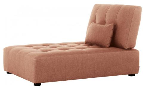Chaiselongue aus Stoff, rosa