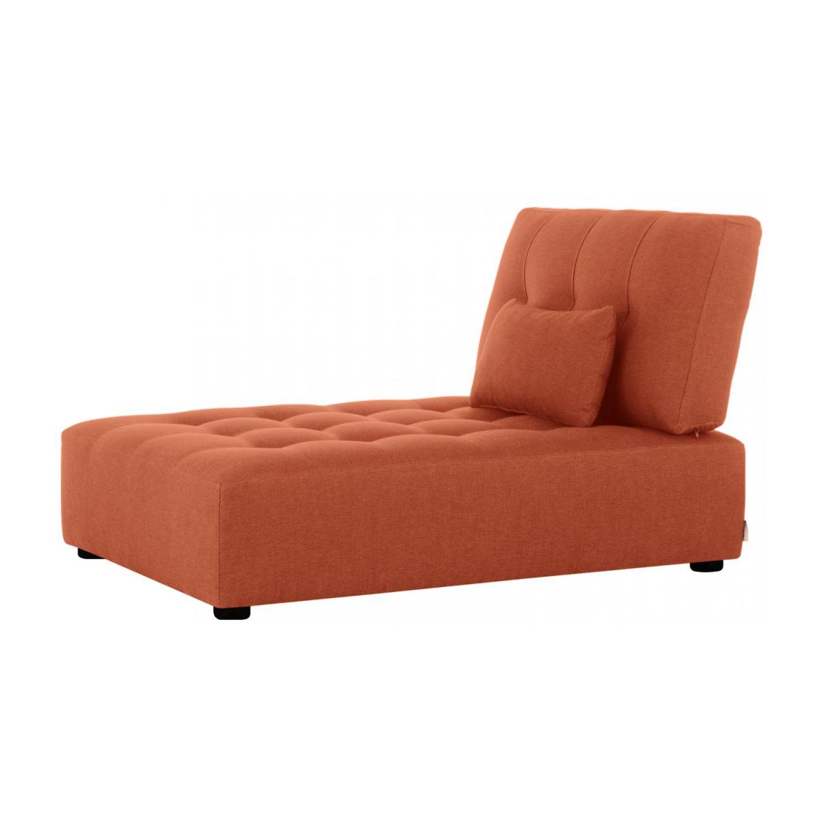 Chaiselongue aus Stoff - Orange n°1
