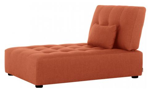 Chaiselongue aus Stoff, orange