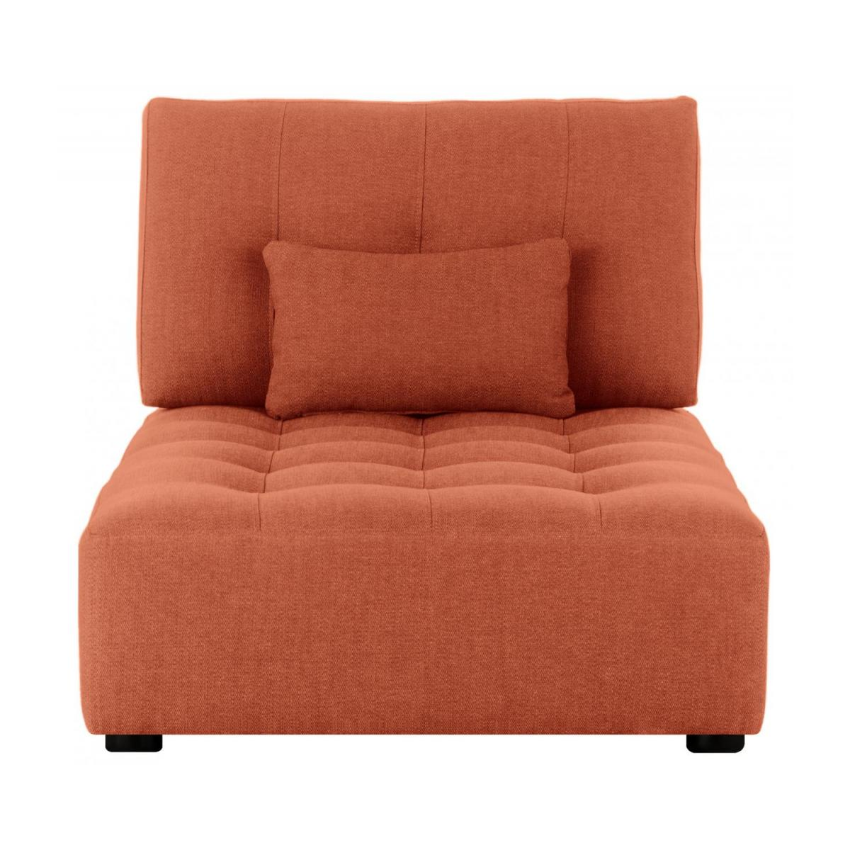 Chaiselongue aus Stoff - Orange n°2