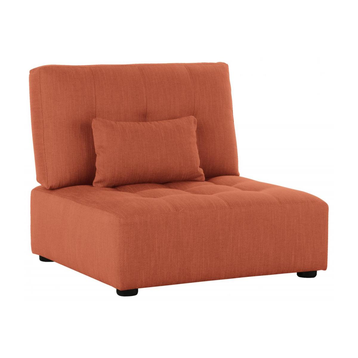 Sitzelement aus Stoff, orange n°1