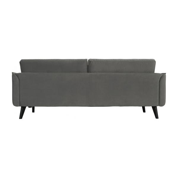 alban 3 sitzer sofa aus samt grau habitat. Black Bedroom Furniture Sets. Home Design Ideas