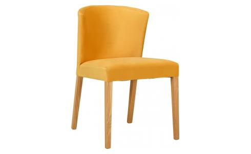 Chaise Velours - Jaune