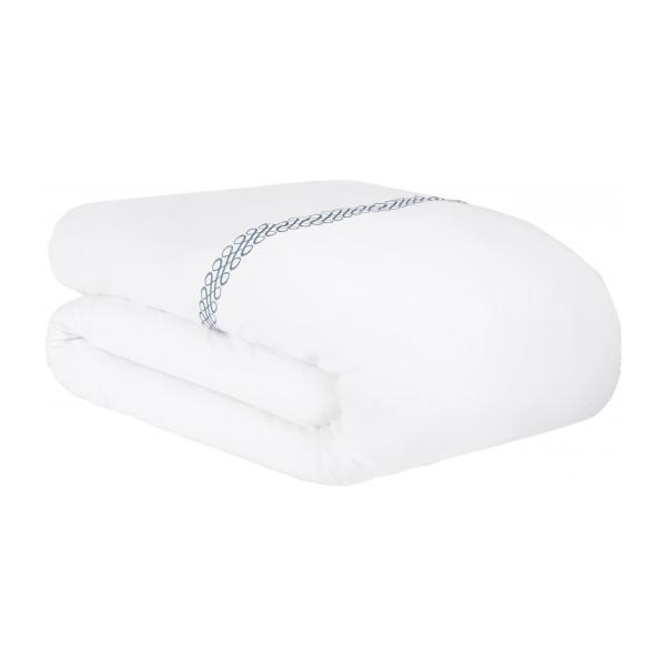 Embroidered duvet cover made of cotton 240x220, white n°2