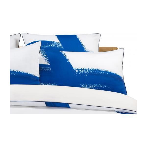 lamia printed cotton duvet cover blue and white 260x240cm habitat. Black Bedroom Furniture Sets. Home Design Ideas