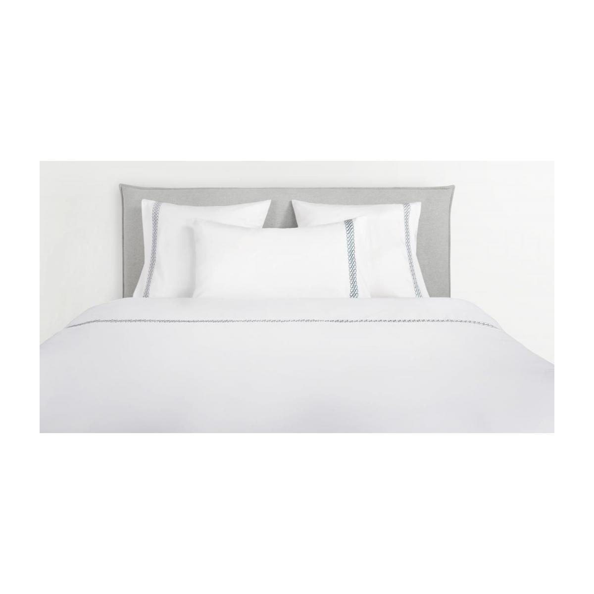Embroidered duvet cover made of cotton 240x220, white n°1
