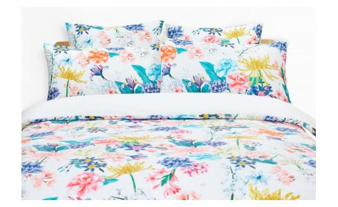 Printed Cotton Duvet Cover 260x240cm