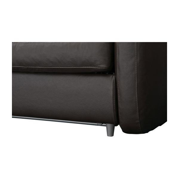 3-seater leather sofa-bed n°10