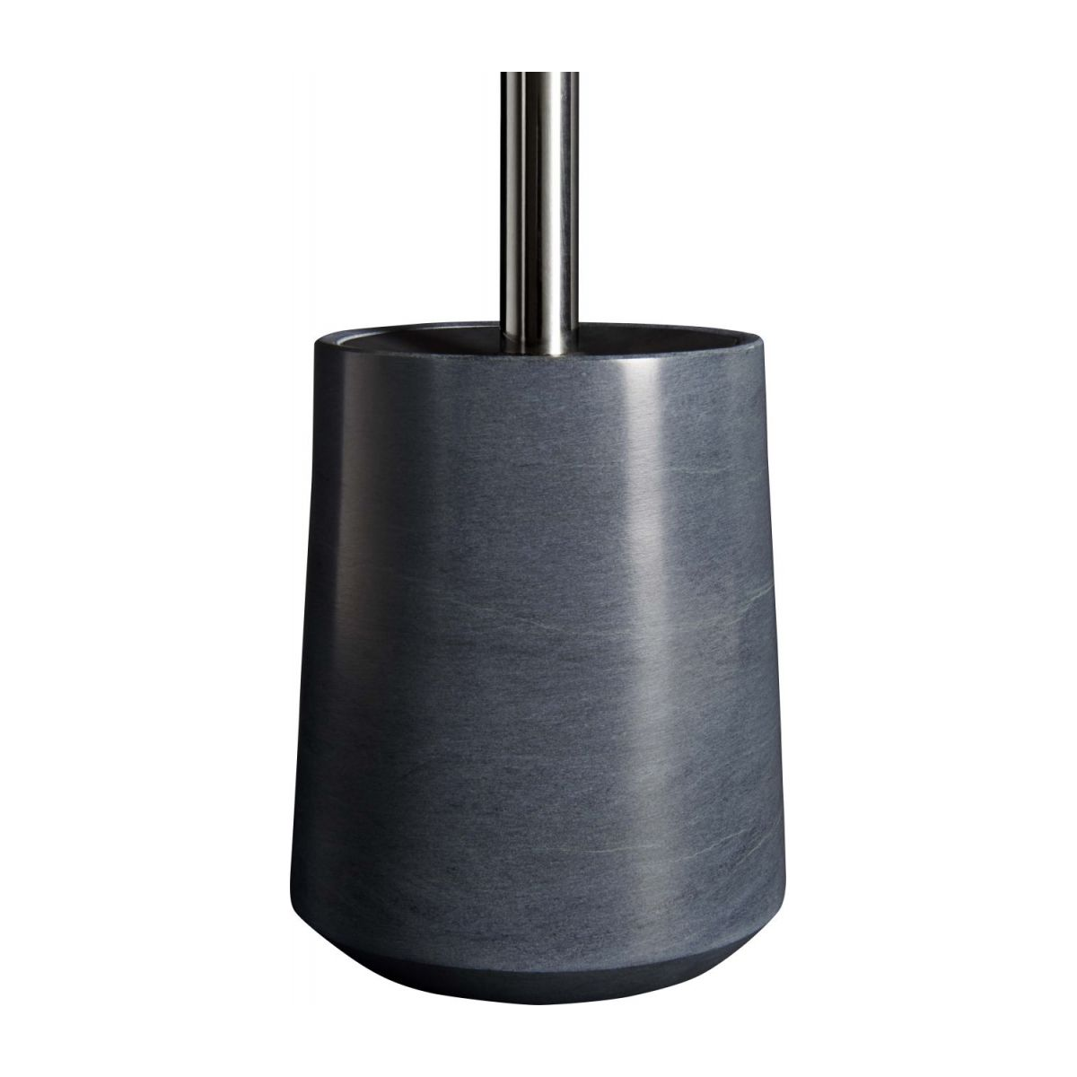 Grey soapstone toilet brush n°4