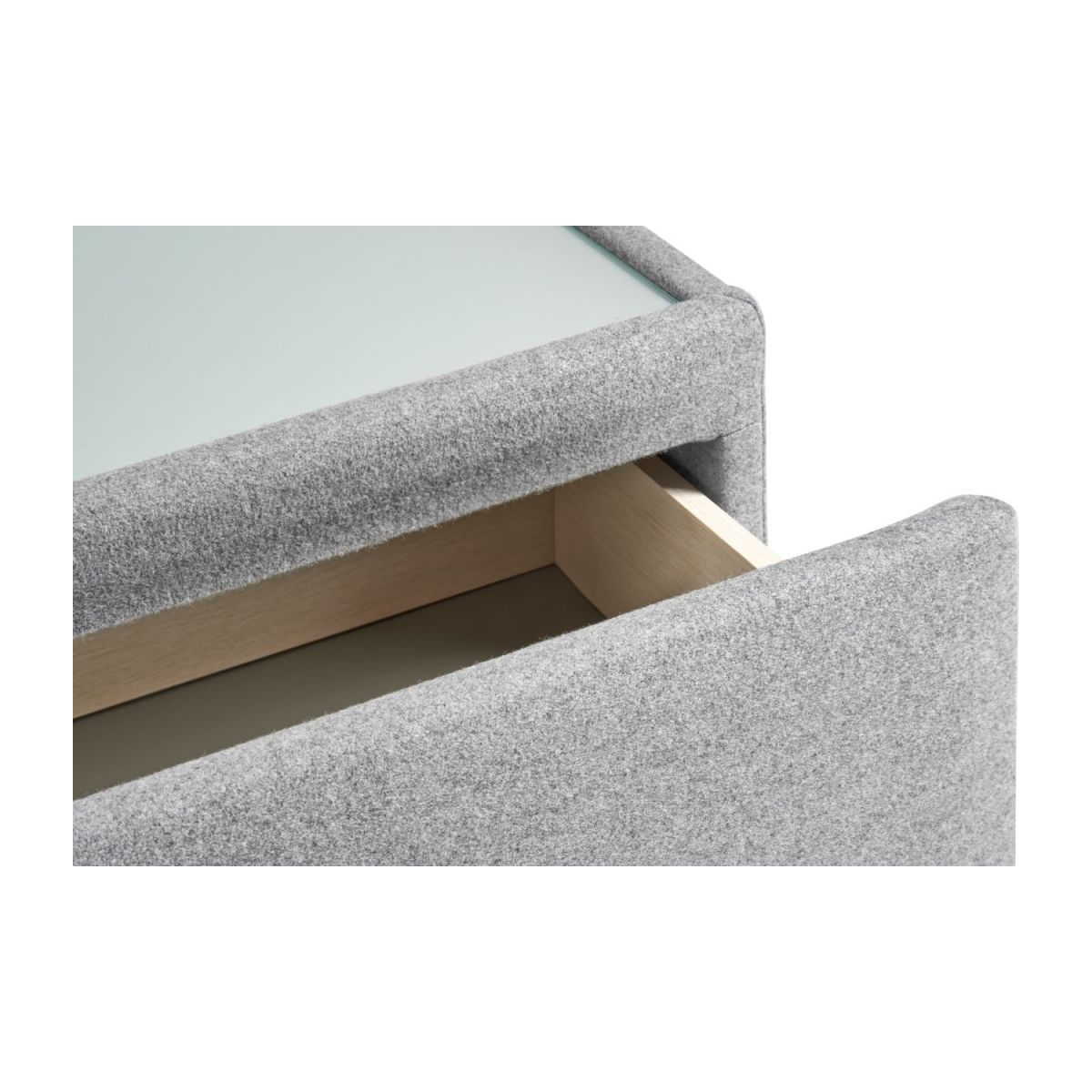 Table de chevet en feutrine - Gris n°8