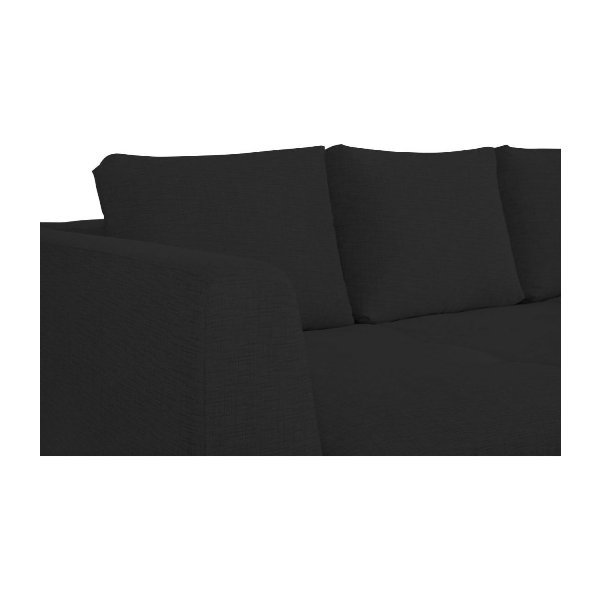 3 seater sofa in Ancio fabric, nero n°7