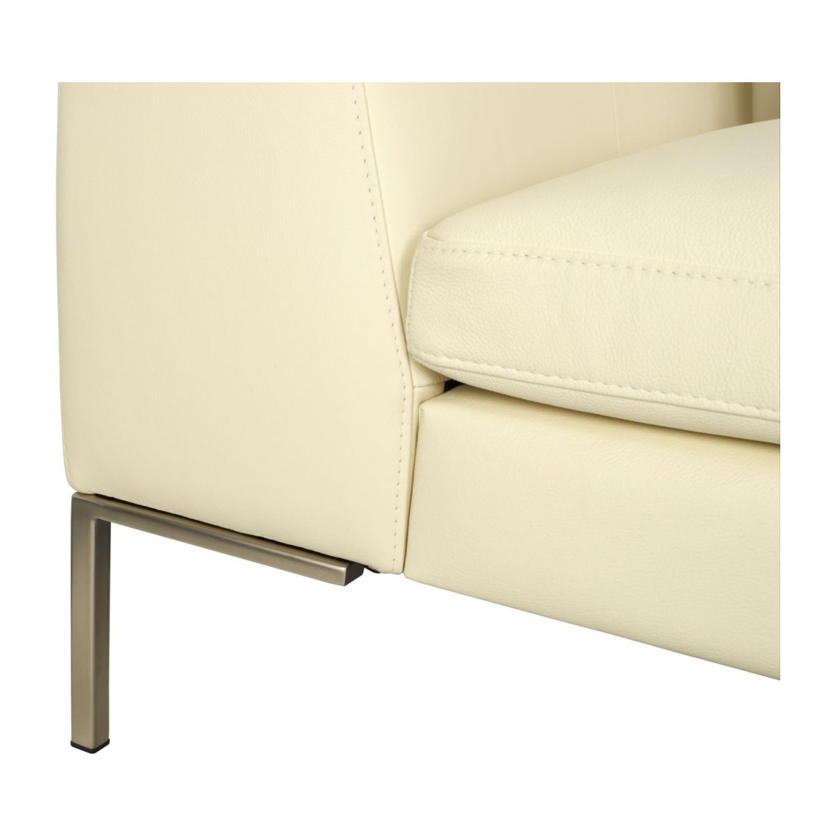 3 seater sofa in Eton veined leather, cream n°7