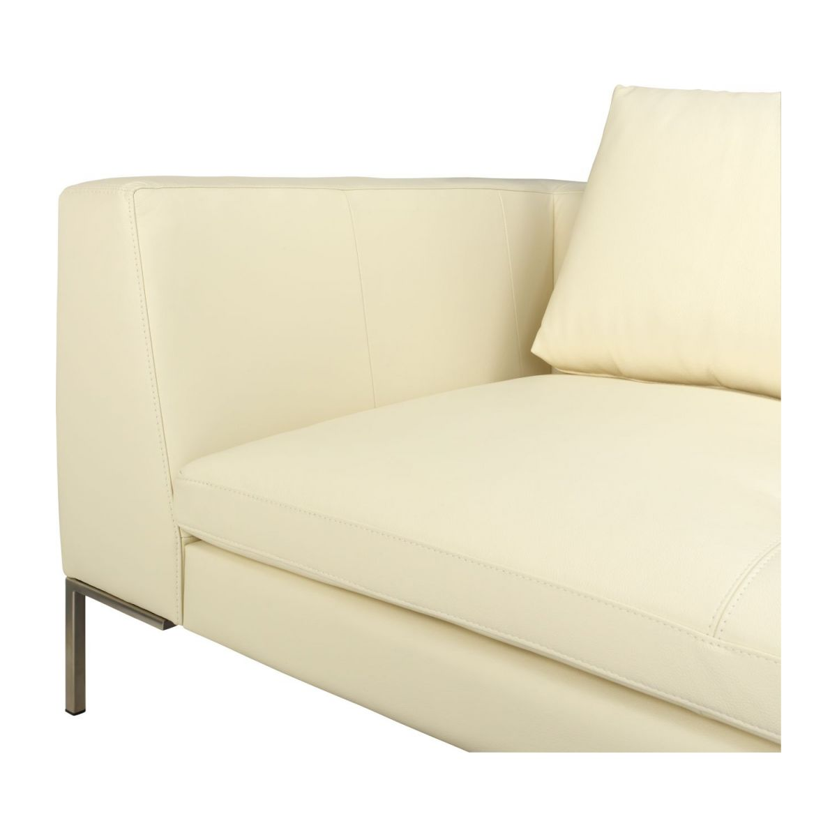 3 seater sofa in Eton veined leather, cream n°6