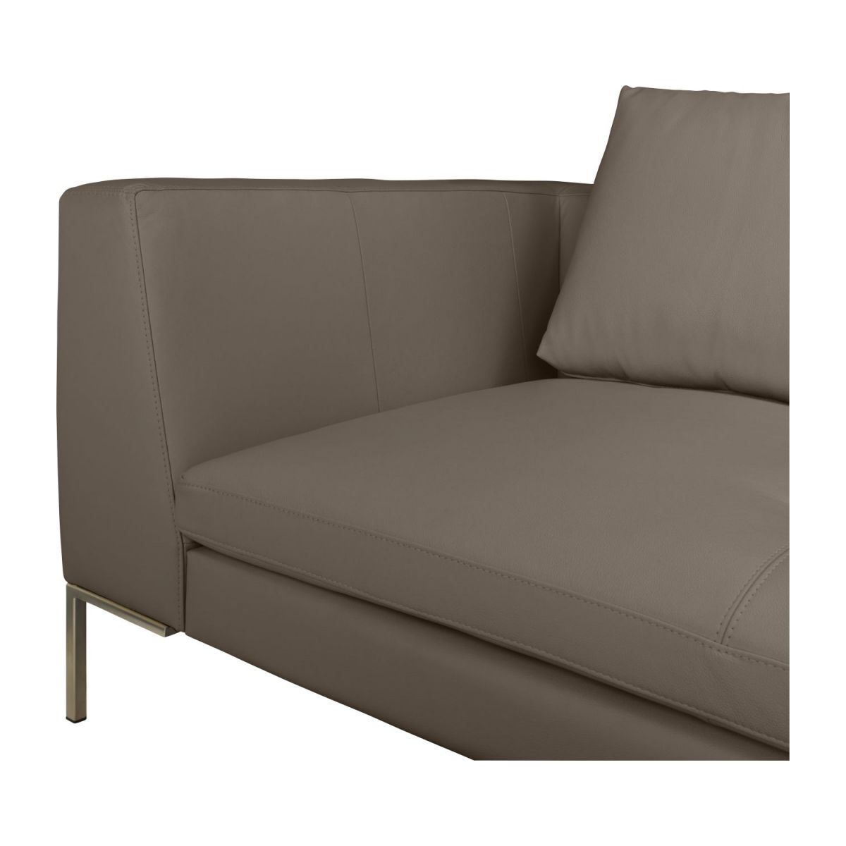 3 seater sofa in Eton veined leather, stone n°6