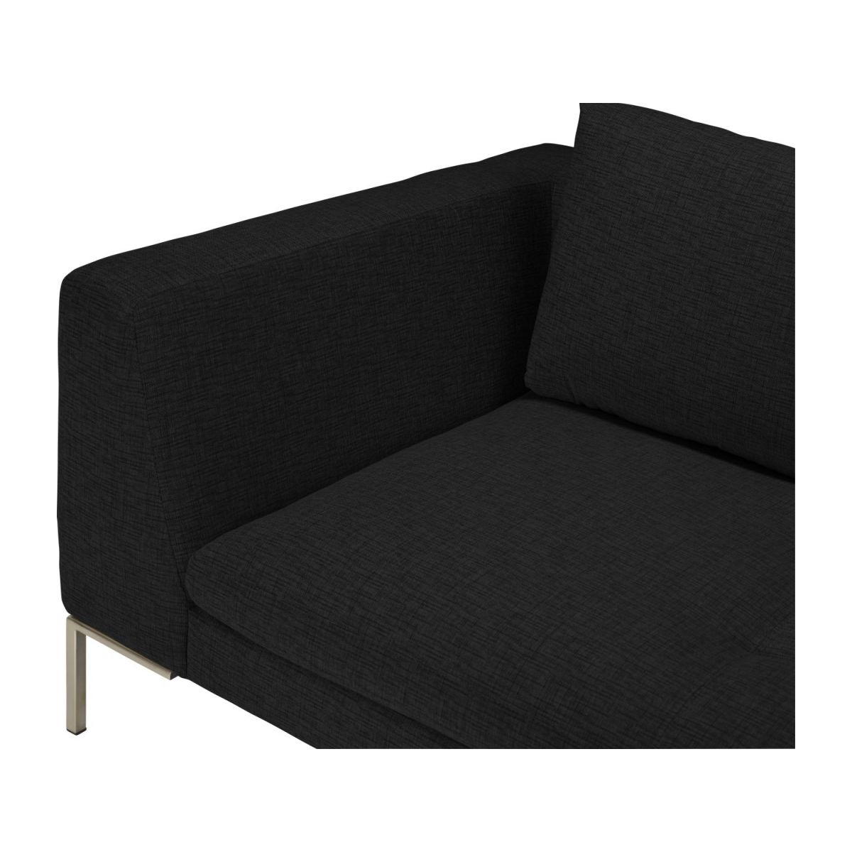 2 seater sofa in Ancio fabric, nero n°7