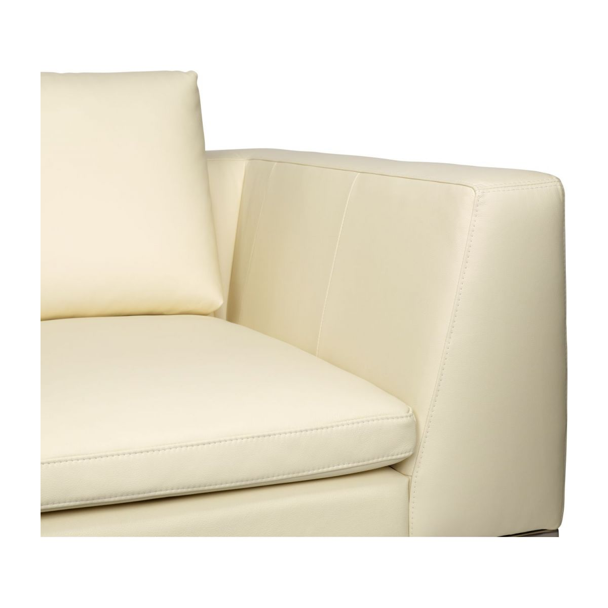 2 seater sofa in Eton veined leather, cream n°7