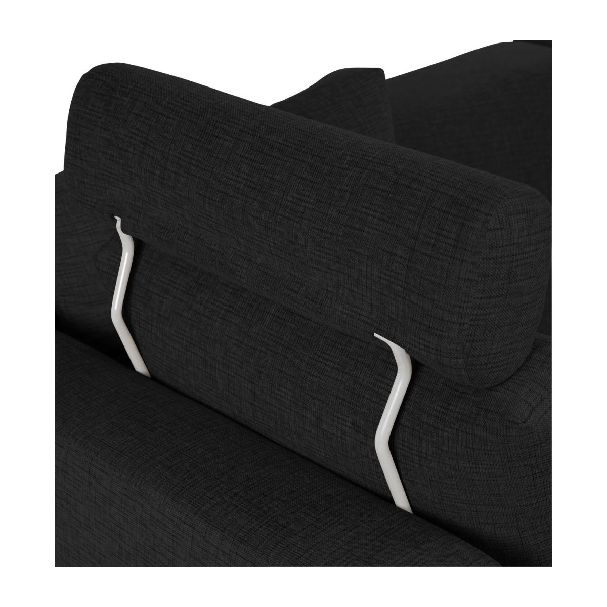 Headrest in Ancio fabric, nero n°4