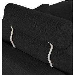 Headrest in Ancio fabric, nero