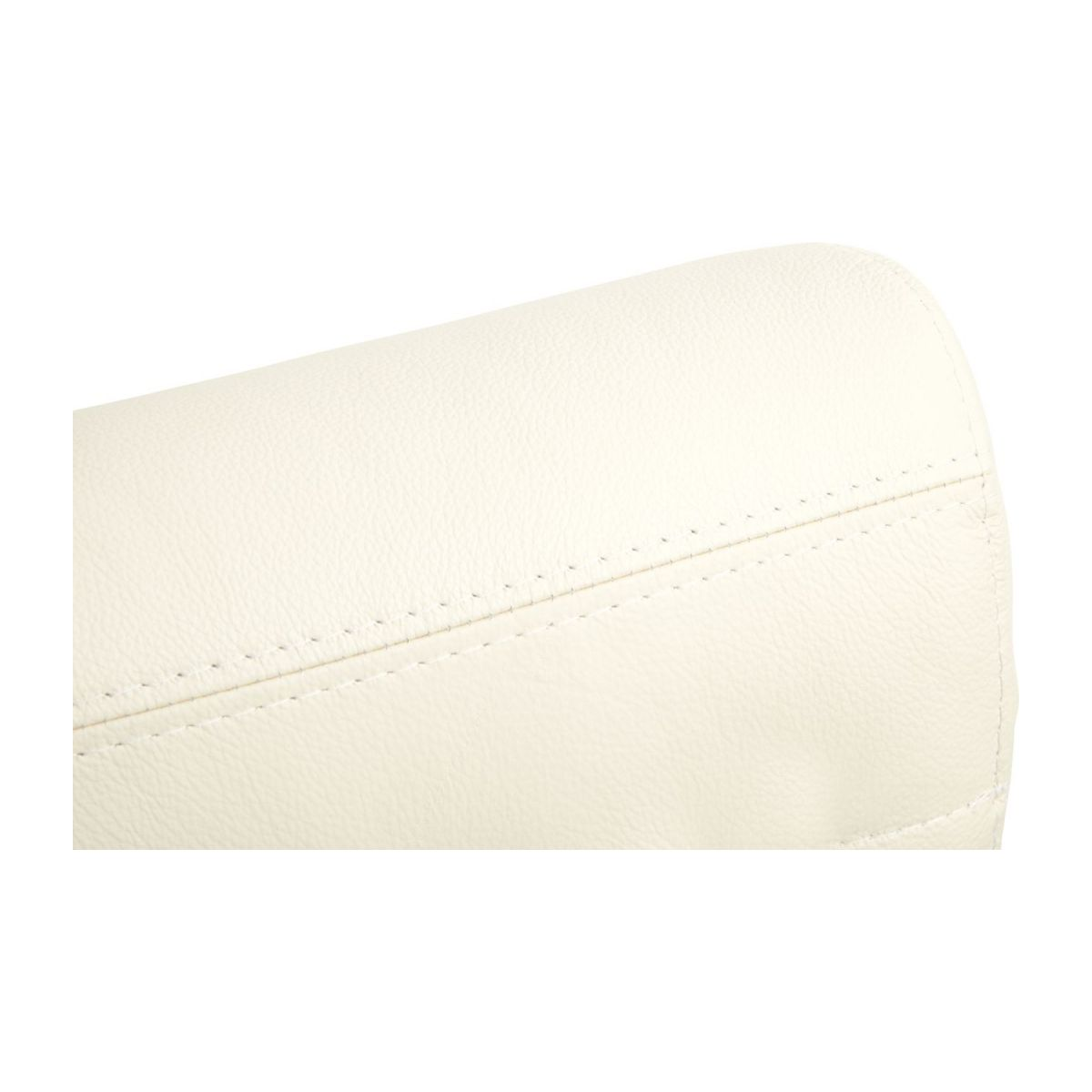 Headrest in Eton veined leather, cream n°6