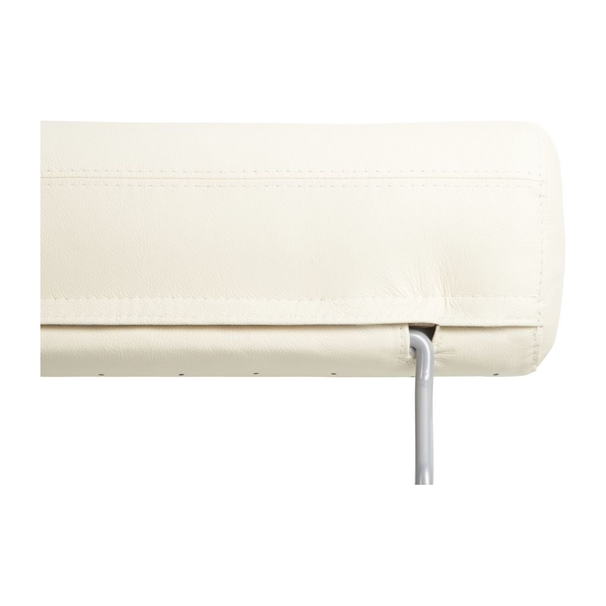 Headrest in Eton veined leather, cream n°5