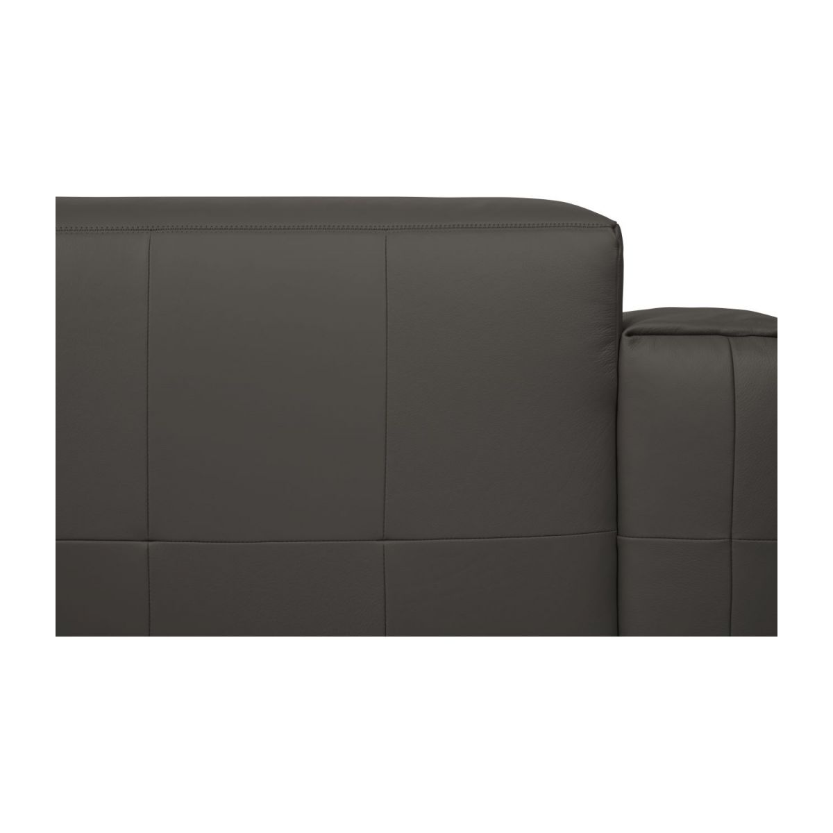 3 seater sofa in Savoy semi-aniline leather, dark brown amaretto n°10
