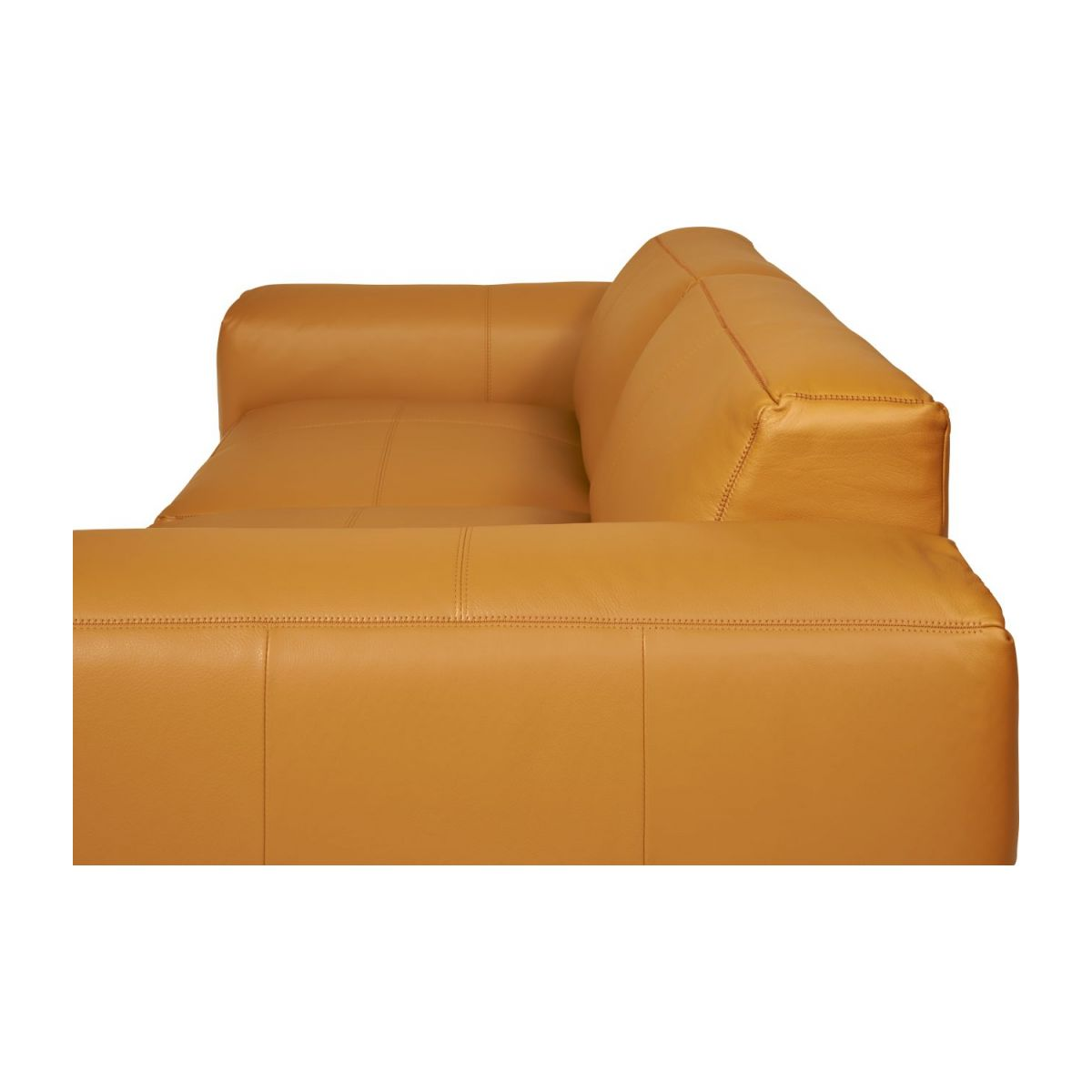 3 seater sofa in Savoy semi-aniline leather, cognac n°10