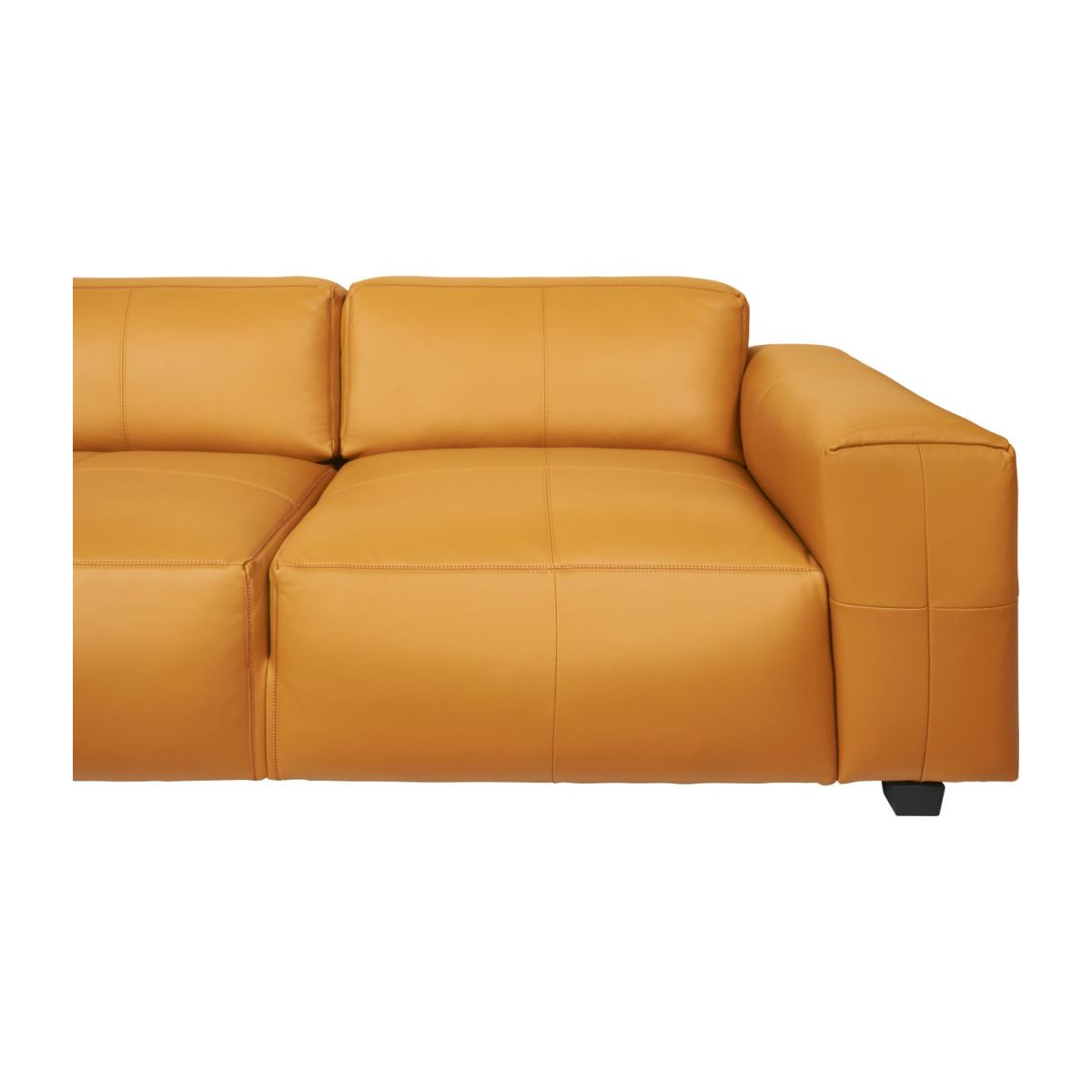 3 seater sofa in Savoy semi-aniline leather, cognac n°7