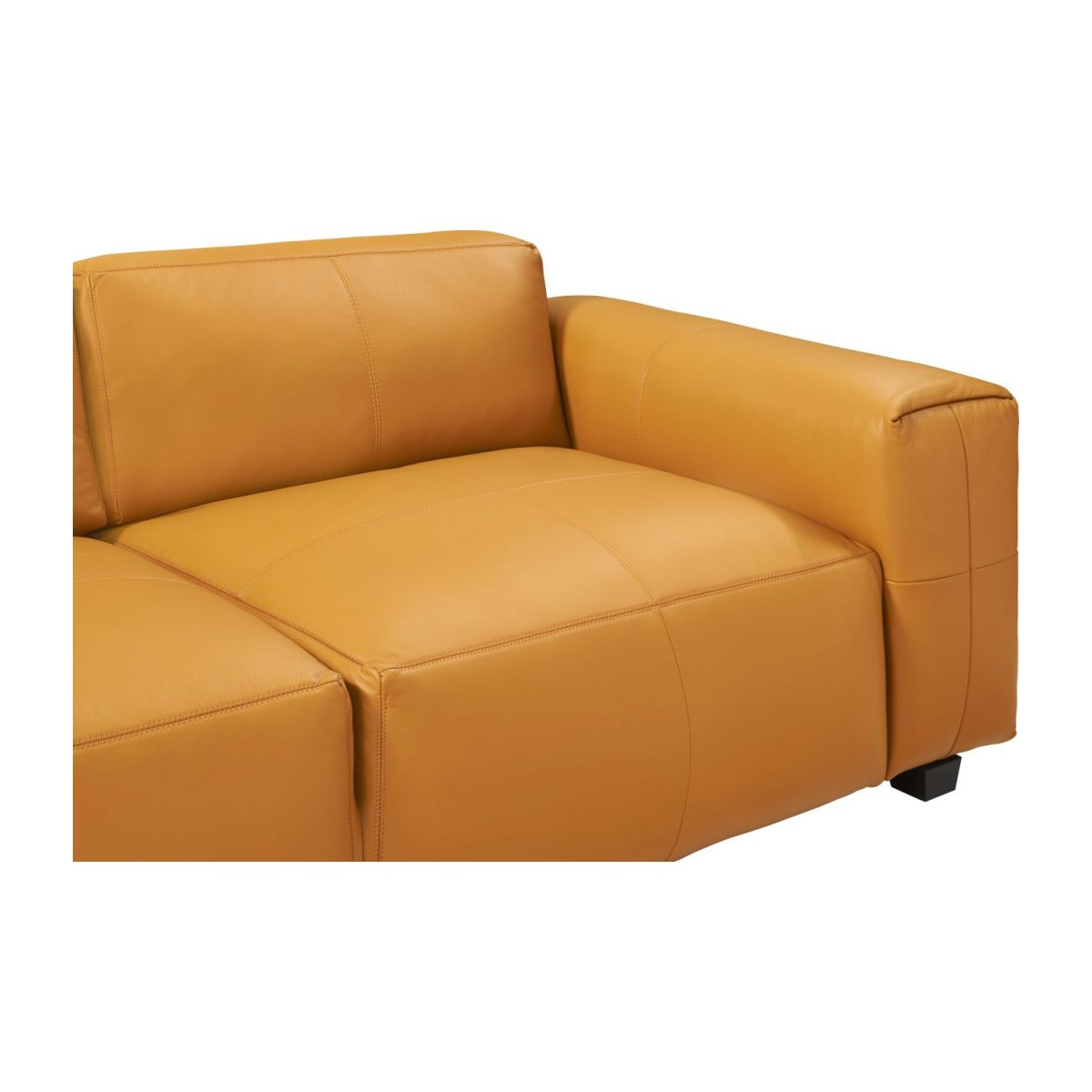 3 seater sofa in Savoy semi-aniline leather, cognac n°6