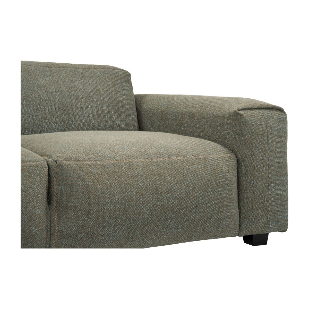 2 seater sofa in Lecce fabric, slade grey n°5