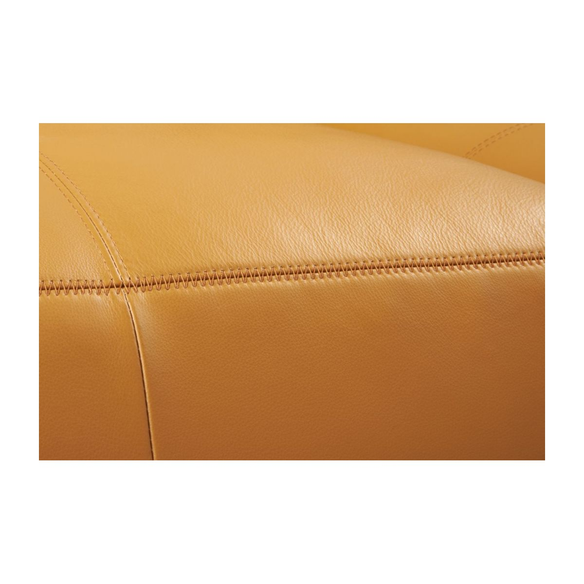 2 seater sofa in Savoy semi-aniline leather, cognac n°12