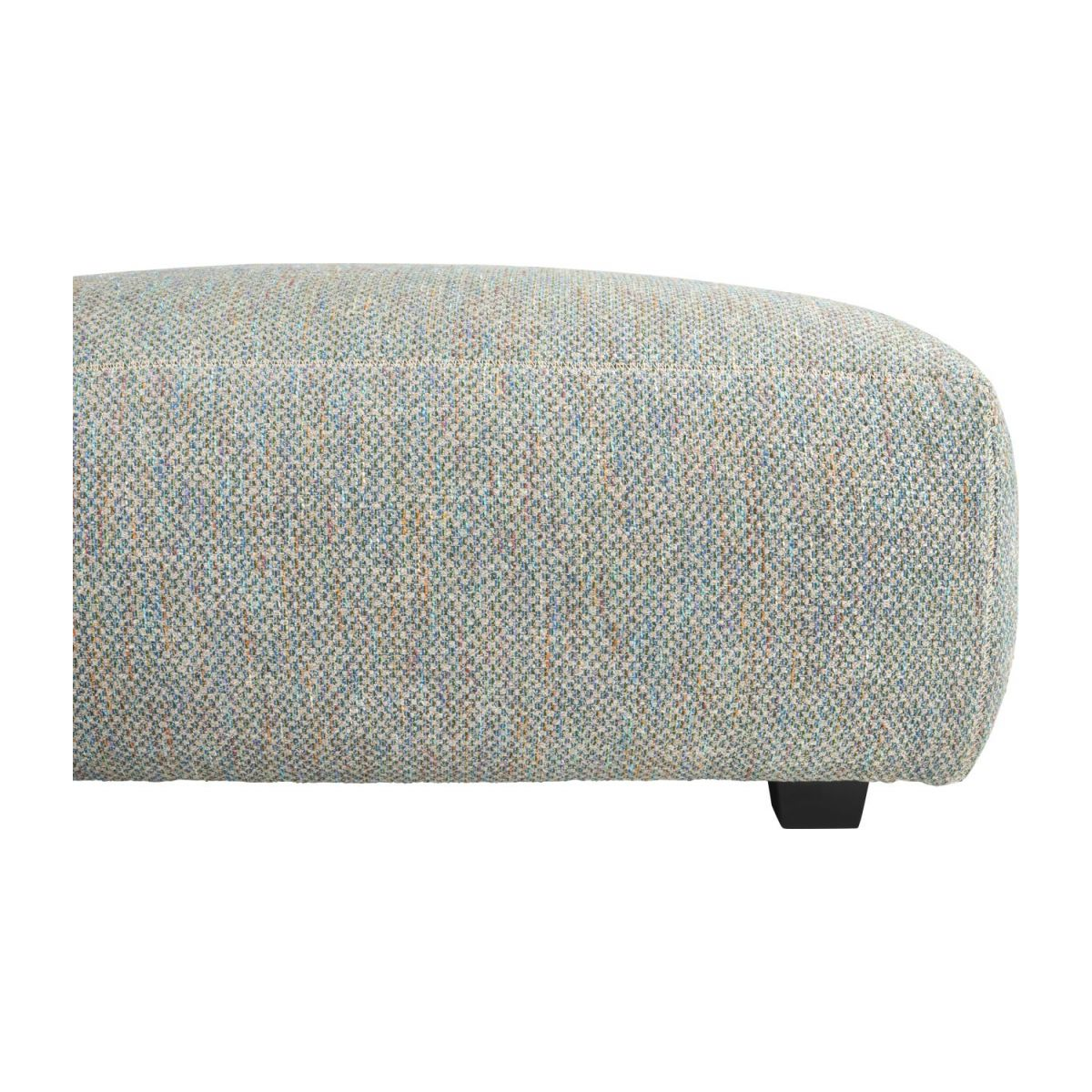 Footstool in Bellagio fabric, organic green n°5