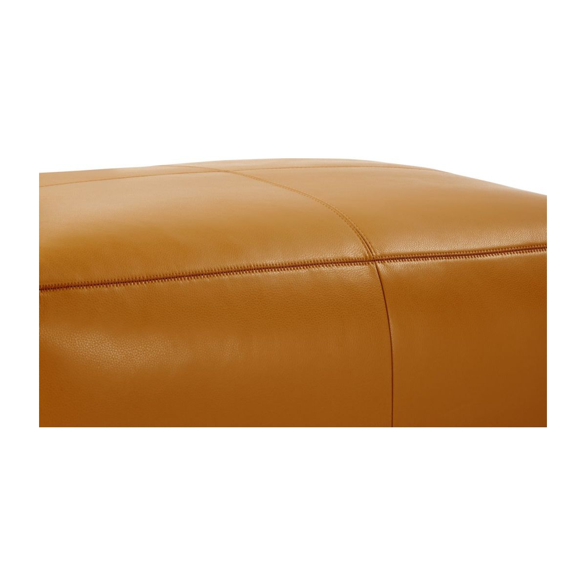 Footstool in Savoy semi-aniline leather, cognac n°6
