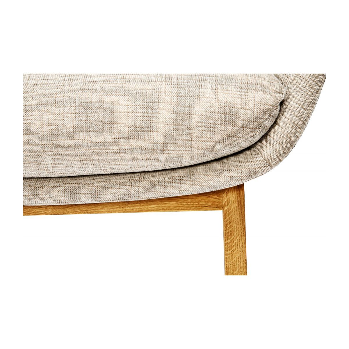 Armchair in Ancio fabric, nature with oak legs n°9