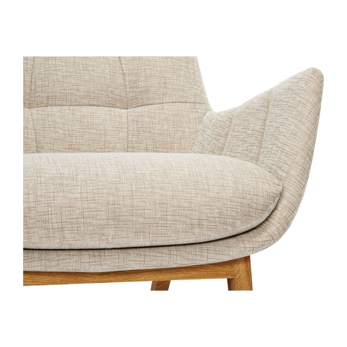 Armchair in Ancio fabric, nature with oak legs n°8