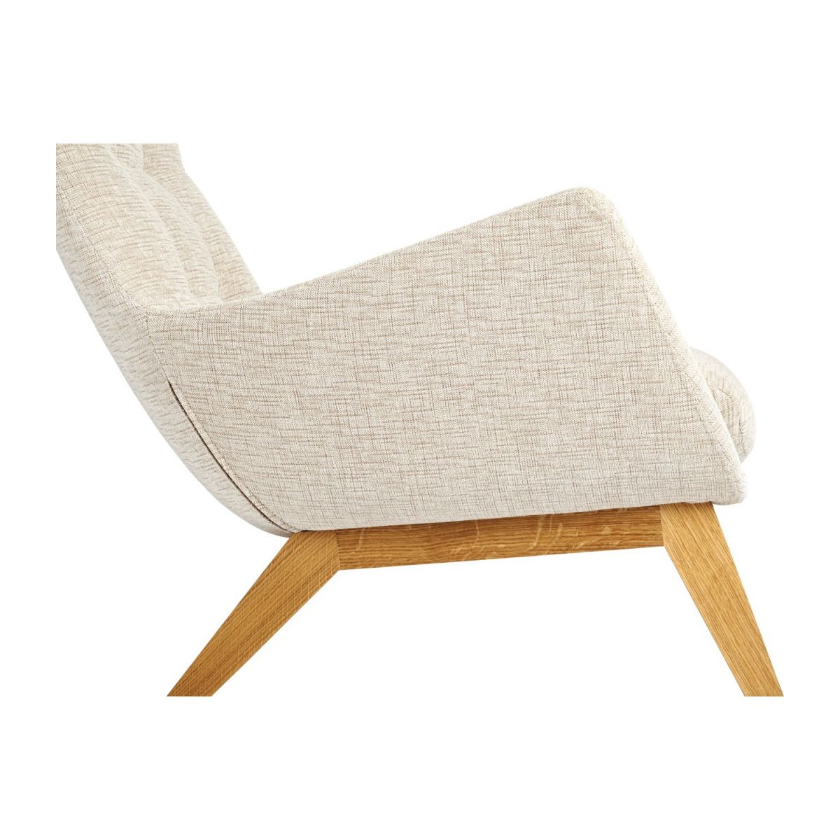 Armchair in Ancio fabric, nature with oak legs n°7